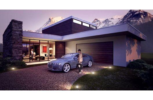 Moderna casa para country de 275 metros cuadrados planos for Casa moderna 80 metros cuadrados
