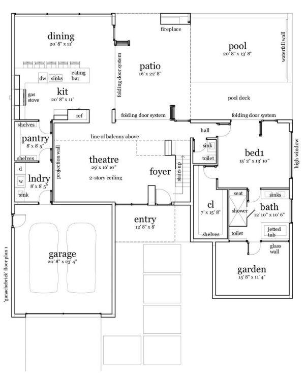 casa moderna con pileta planos de casas gratis