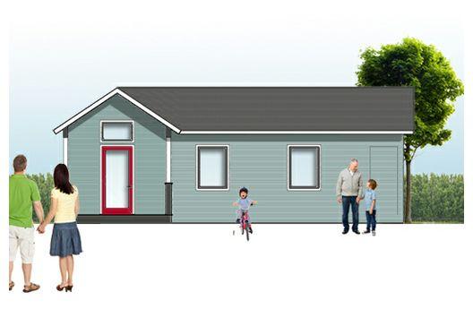 Casa en l de un dormitorio y 46 metros cuadrados planos de casas gratis deplanos com - Cuanto cuesta hacer una casa de 100 metros cuadrados ...