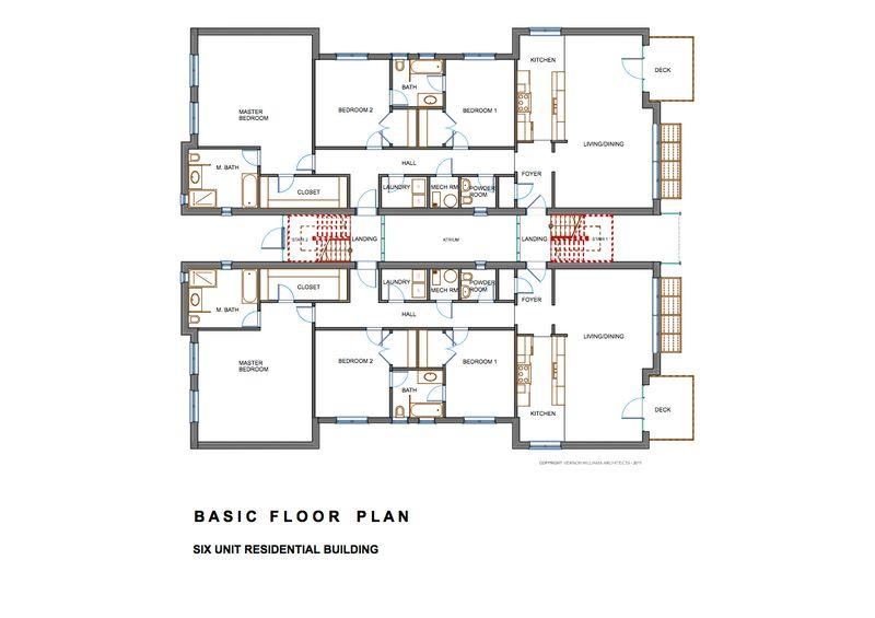 Edificio de departamentos de tres pisos planos de casas for Niveles en planos arquitectonicos