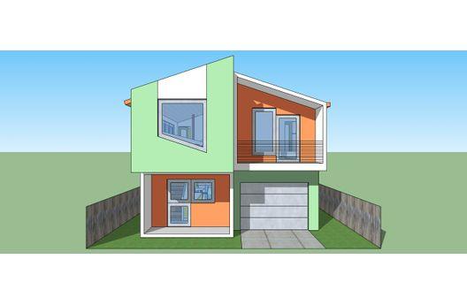 Duplex de dos recamaras y 106 metros cuadrados planos de for Casas modernas 120 metros cuadrados