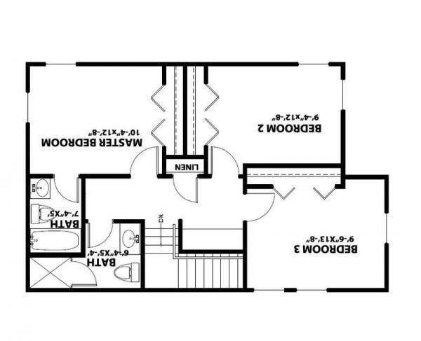 Casa de madera de dos pisos cuatro dormitorios y 142 metros cuadrados planos de casas gratis - Pasar de metros a metros cuadrados ...