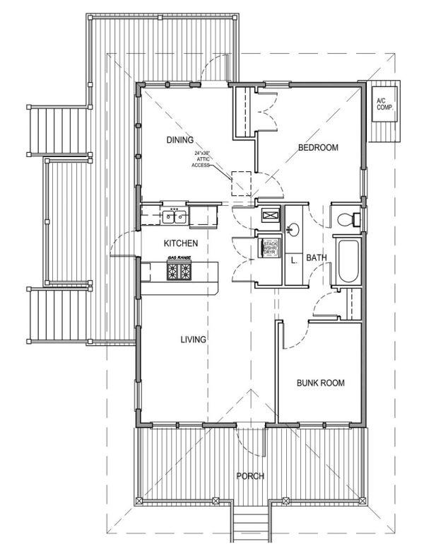 Casa de una planta dos dormitorios y 81 metros cuadrados for Dormitorio 9 metros cuadrados