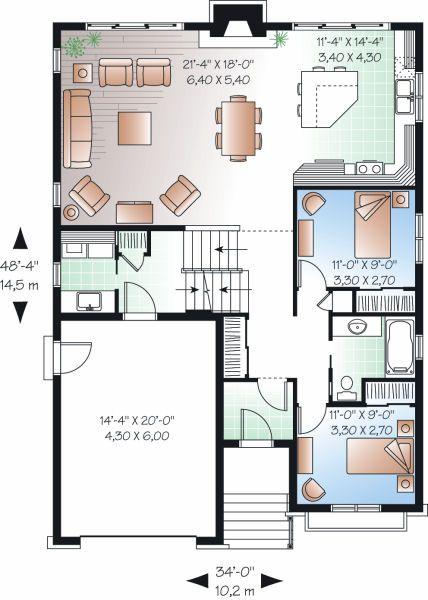 Linda casa de dos plantas tres dormitorios y 159 metros for Casa 2 plantas 160 metros cuadrados