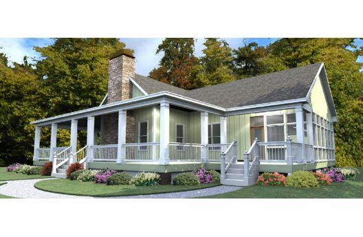 Moderna casa de campo de una planta tres dormitorios y for Viviendas de campo modernas