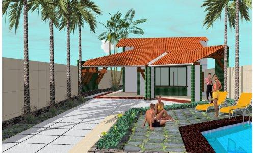 Casa con pileta de una planta, tres dormitorios y 145 metros cuadrados