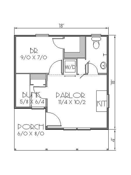 Diminuta casa de dos dormitorios y 28 metros cuadrados for Planos de casas de 24 metros cuadrados