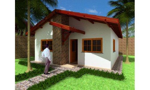 Casa economica de tres dormitorios y 62 metros cuadrados