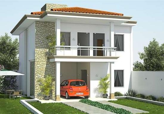 Hermosa casa de dos pisos tres dormitorios y 148 metros for Planos de casas de dos plantas gratis