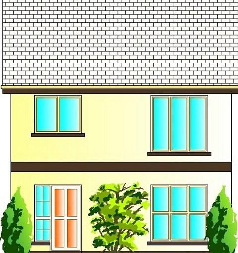 Sencilla y comoda casa de dos pisos, tres dormitorios y 120 metros cuadrados