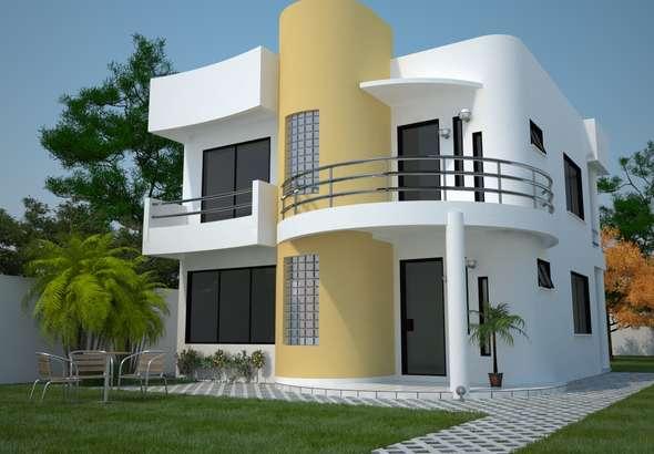 Ver planos de casas para terrenos de 10 metros de ancho for Casas modernas 4 cuartos