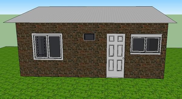 Diminuta casa de una planta, un dormitorio y 20 metros cuadrados