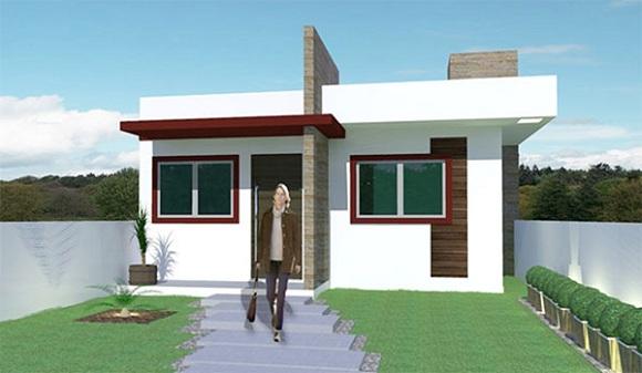Peque a casa moderna de una planta dos dormitorios y 53 for Casa moderna gratis