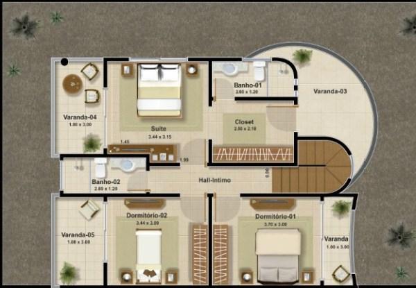 Casa moderna de dos plantas tres dormitorios y 161 metros for Dormitorio 14 metros cuadrados