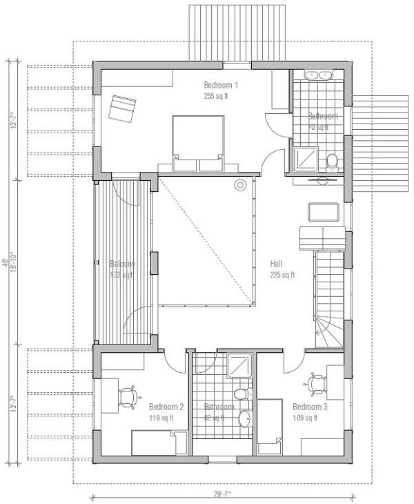 Casa moderna en 3d de dos pisos tres dormitorios y 179 - Planos de casas rurales ...