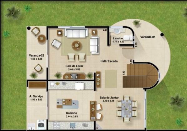 Casa moderna de dos plantas tres dormitorios y 161 metros for Planos de casas de dos plantas y tres dormitorios
