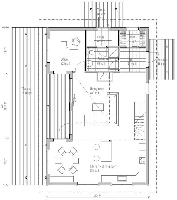 Casa moderna en 3d de dos pisos tres dormitorios y 179 for Casa moderna 50 metros cuadrados