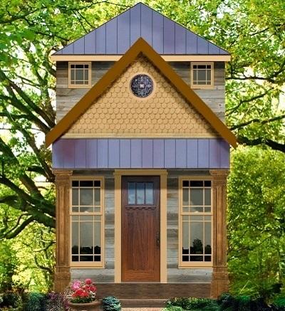 Peque a casa de dos plantas un dormitorio y 39 metros for Casas de campo economicas