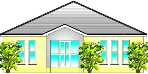 Sencilla casa de una planta, tres dormitorios y 137 metros cuadrados