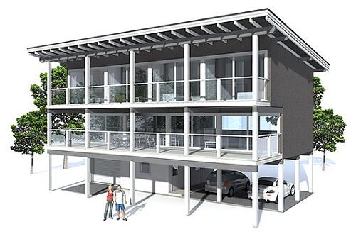 Planos Con Terraza Planos De Casas Gratis Deplanos Com