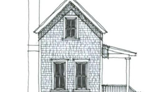 Pequeña casa angosta de dos plantas, dos dormitorio y 89 metros cuadrados