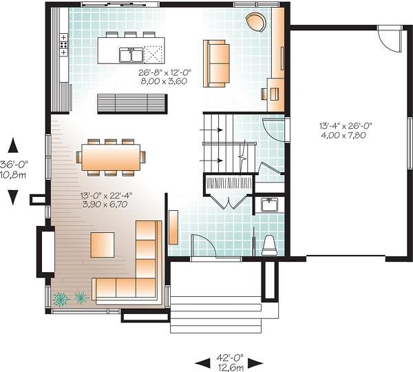 Moderna casa de dos pisos tres habitaciones y 172 metros for Piso 60 metros cuadrados 3 habitaciones