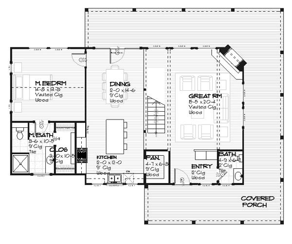 plano planta baja casa de dos plantas y tres dormitorios de 156 metros cuadrados