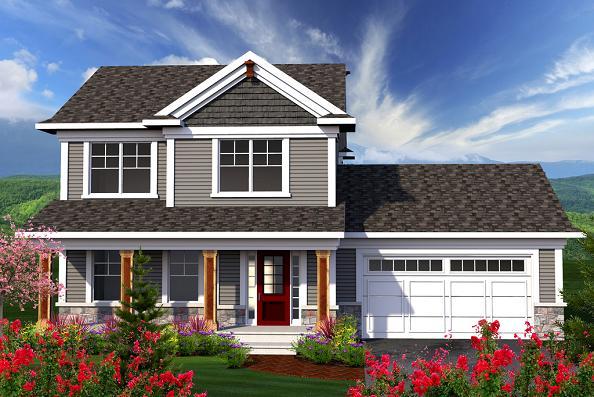 Plano de casa clasica de 2 pisos 3 dormitorios y 146 for Casa clasica procrear 1 dormitorio
