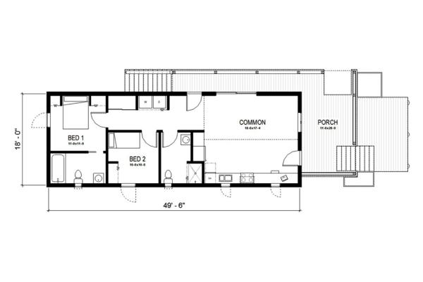 Plano de casa bonita de una planta dos dormitorios y 83 metros cuadrados planos de casas gratis - Pasar de metros a metros cuadrados ...