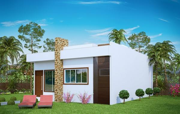 casas modernas 60m2