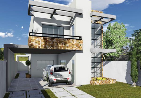 Casa de dos plantas tres dormitorios y 237 metros for Modelos de casas minimalistas de dos plantas