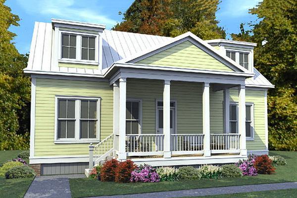 Plano de bella casa tradicional de dos plantas, tres dormitorios y 157 metros cuadrados