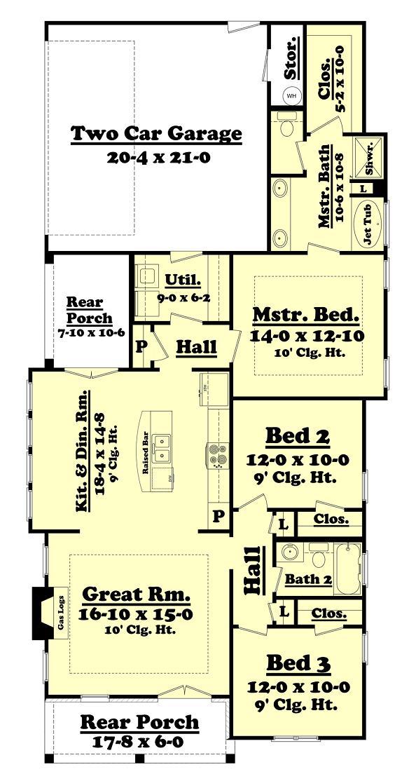 Plano casa en esquina de tres dormitorios