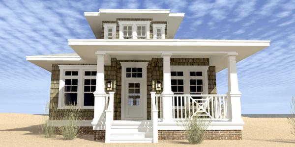 plano de casa de madera de dos plantas tres dormitorios y metros cuadrados