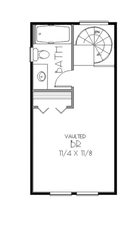 plano planta alta  duplex 53 metros cuadrados