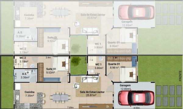 Plano casa pequena
