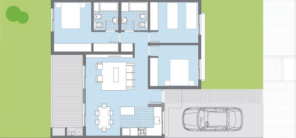 casa sauco de 3 dormitorios del plan pro cre ar planos de On procrear modelos de casas sauco 3 dormitorios
