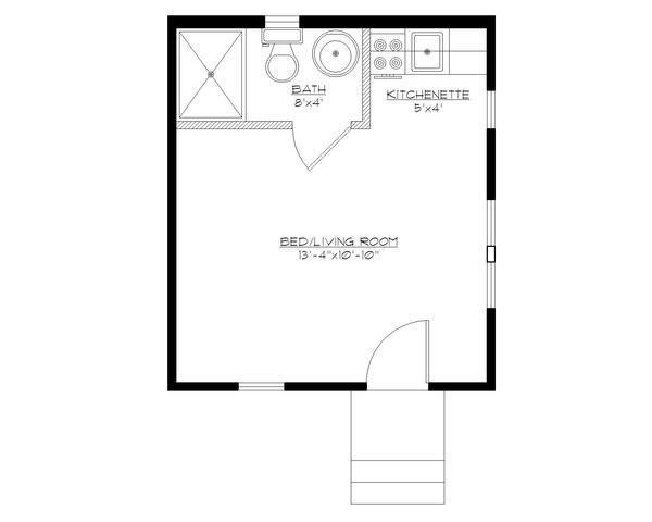 Caba a monoambiente de 21 metros cuadrados planos de casas for Planos de cocinas de 15 metros cuadrados