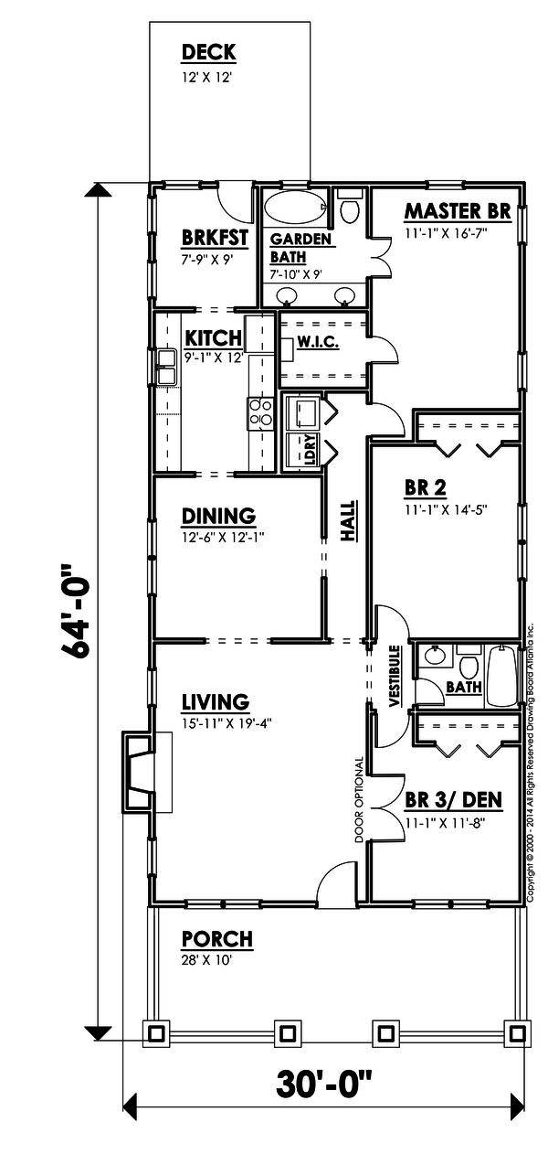 plano casa de madera de 181 metros cuadrados y tres dormitorios