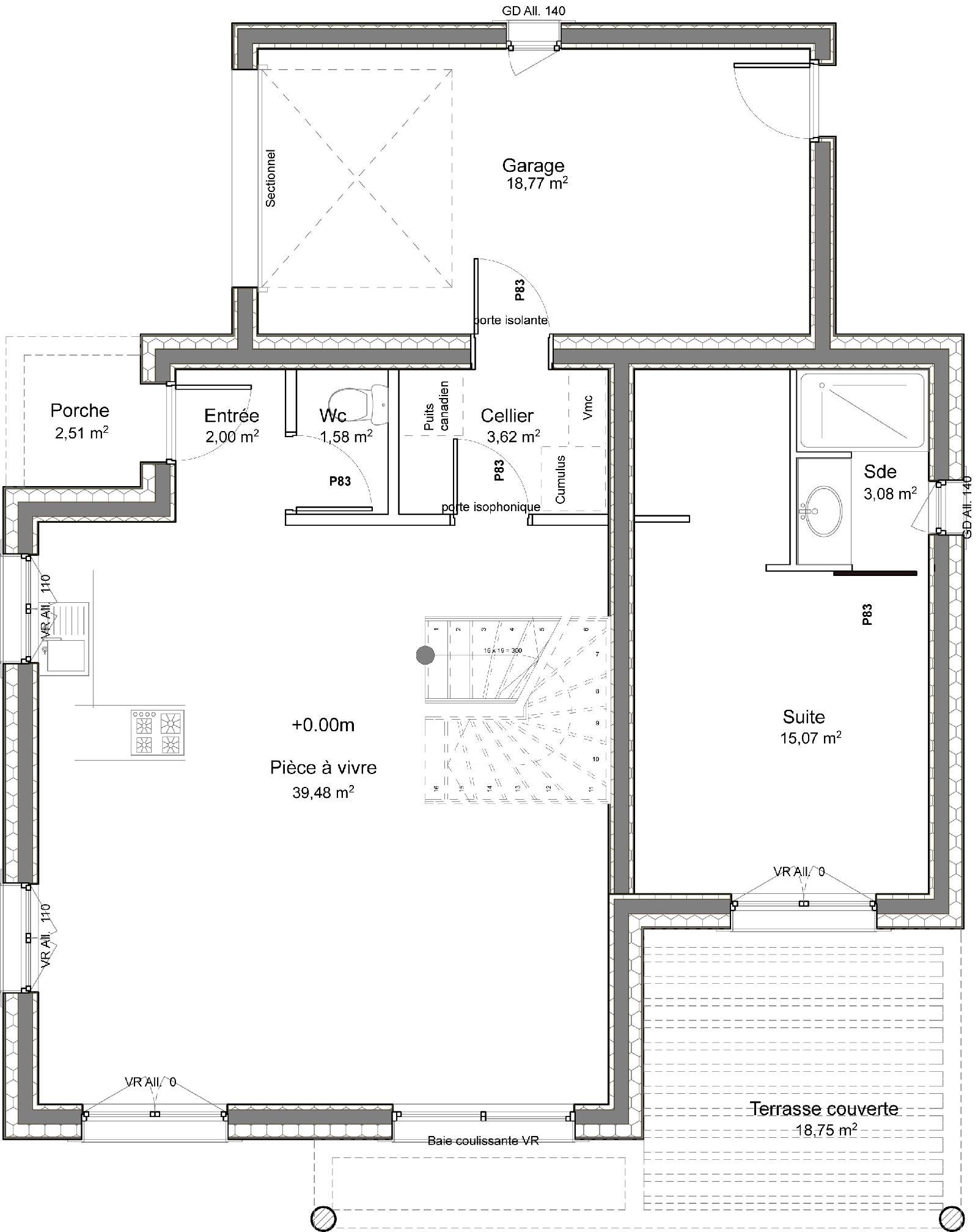 Casa de dos plantas 4 dormitorios y 109 metros cuadrados - Planos de casas de 2 plantas ...
