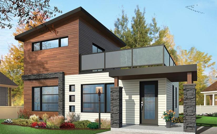 Moderna casa de dos plantas, dos dormitorios y 86 metros cuadrados