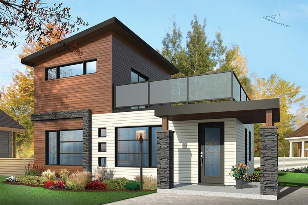 moderna casa de dos plantas dos dormitorios y metros cuadrados
