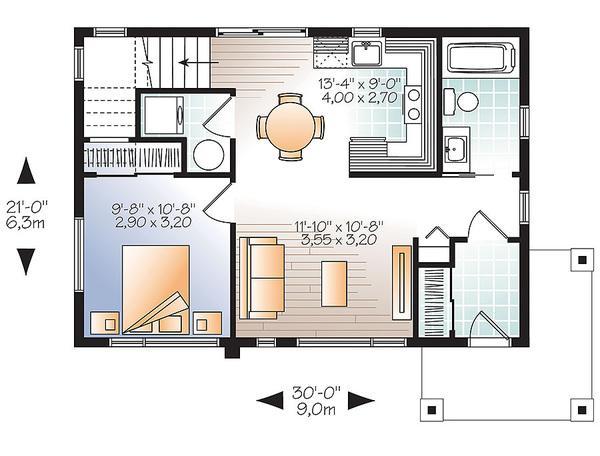 Moderna casa de dos plantas dos dormitorios y 86 metros for Dormitorio 15 metros cuadrados