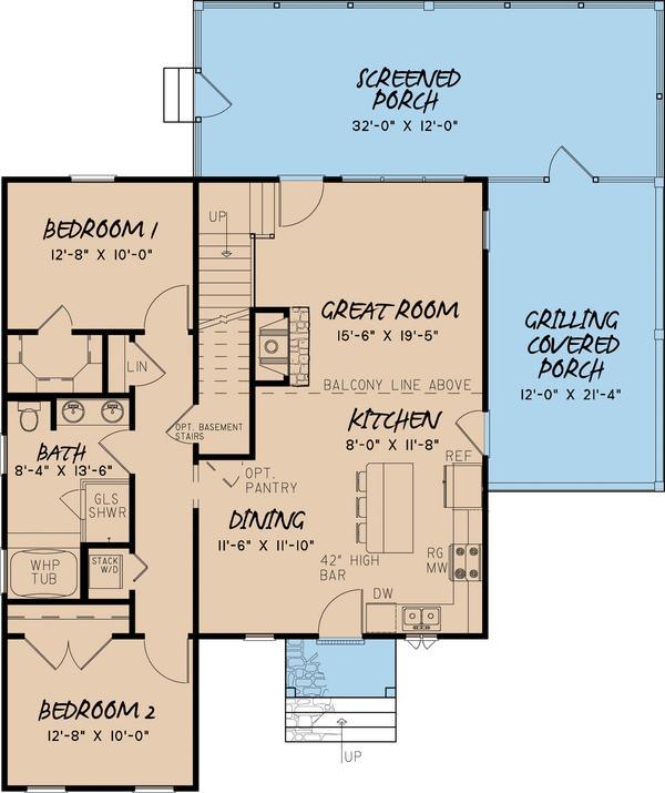 Plano de casa de dos plantas tres dormitorios y 145 for Planos de casas de dos dormitorios