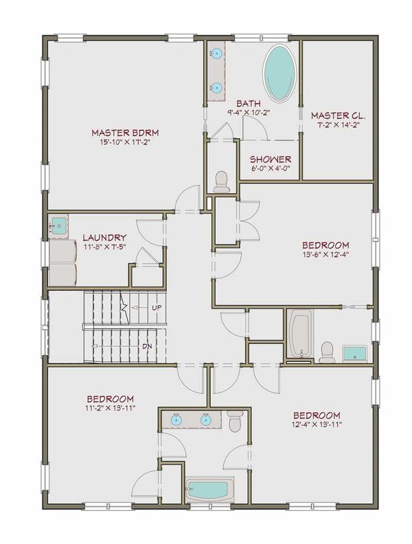 plano de casa de 2 pisos 5 habitaciones