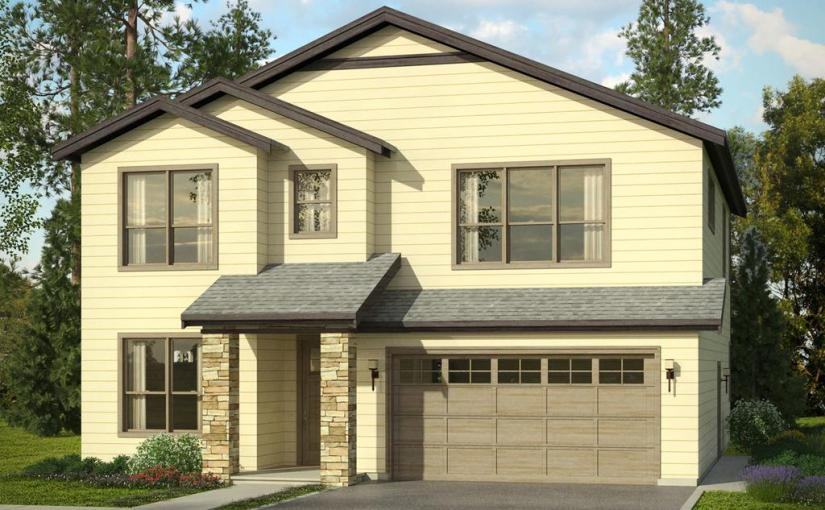 Plano de casa con cochera de tres dormitorios y 212 metros cuadrados