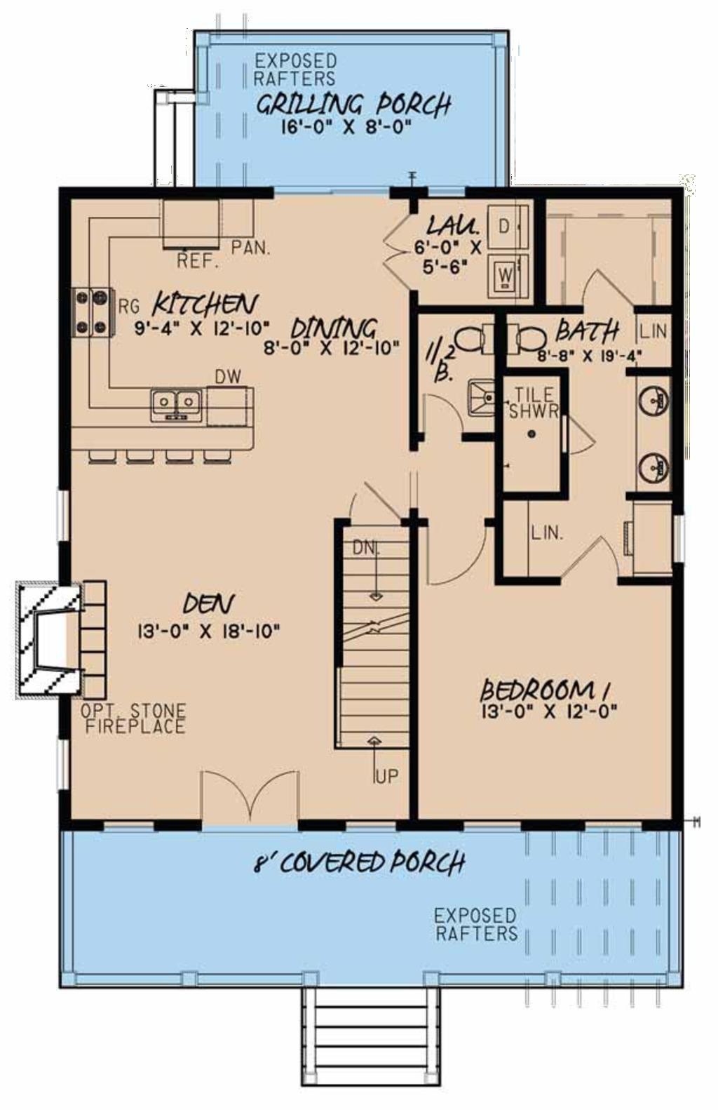 Plano de casa de dos pisos y tres dormitorios con s tano - Casas en planta baja ...