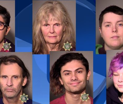 Antifa members arrested Portland Oregon