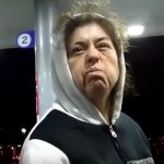 Crazy lady tries to set gas station on fire