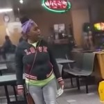 Woman freaks out at Subway
